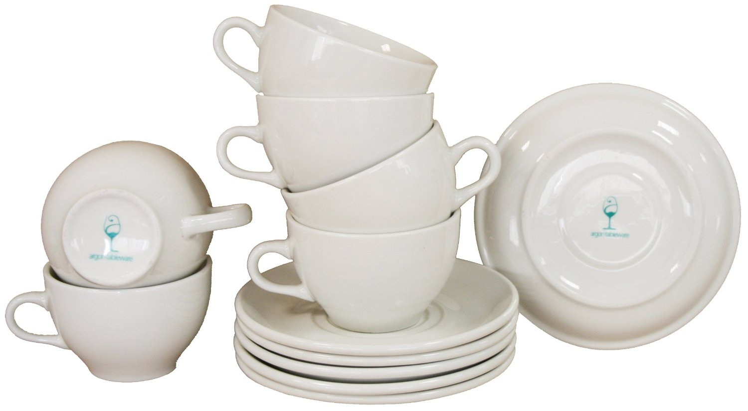 Cappuccino Cups and Saucers Set