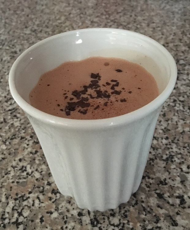 cup of hot chocolate made by the hotel chocolat velvetiser