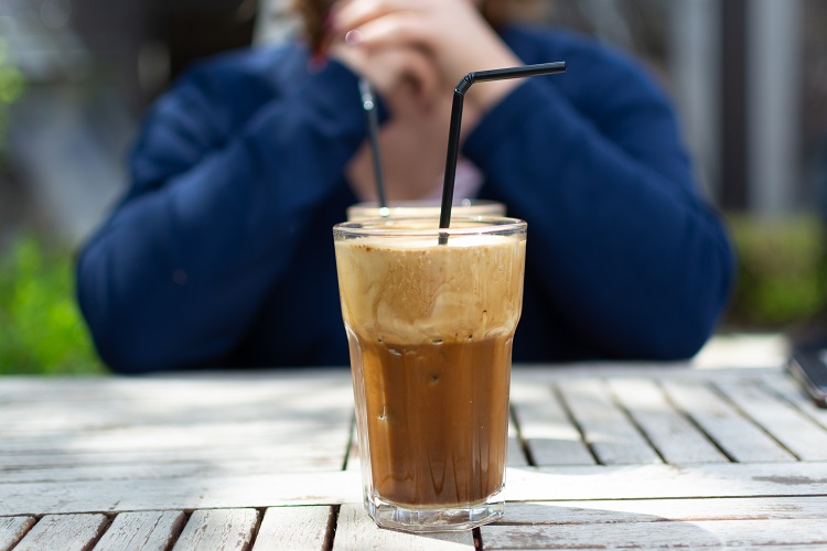Foamy iced coffee - perfect for a summer's day