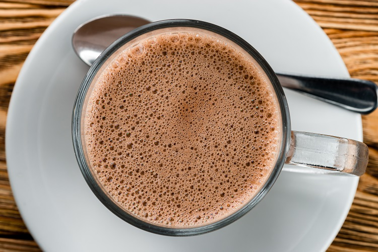 Hot,Chocolate,With,Frothy,Foam,,Texture,Of,Cocoa,Hot,Chocolate