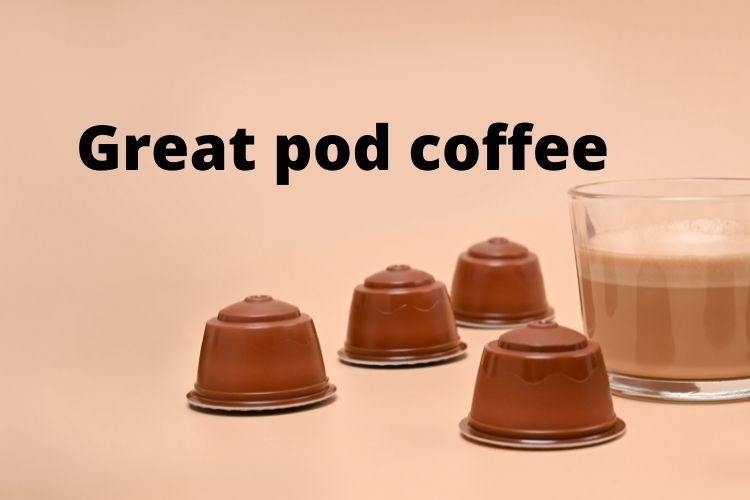 coffee pods with cup of coffee